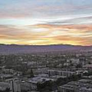 The Colors Of The Sky Over San Jose At Sunset Art Print by Ashish Agarwal