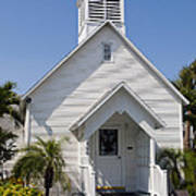 The Community Chapel Of Melbourne Beach Florida Art Print