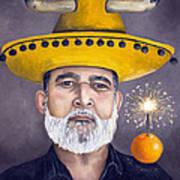 The Competitive Sombrero Couple 2 Art Print