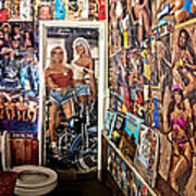 The Coolest Men's Room West Of The Pecos Art Print