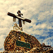 The Cross In The Grotto In Iowa Art Print
