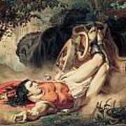 The Death Of Hippolyte Art Print