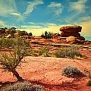 The Desert And The Sky Art Print