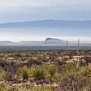 The Desert Mists And Fog Art Print