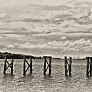 The Disappearing Pier Art Print
