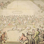 The Dog Fight Print by Thomas Rowlandson