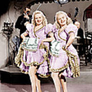 The Dolly Sisters, From Left Betty Art Print