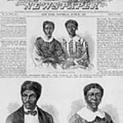 The Dred Scott Family On The Front Page Art Print by Everett