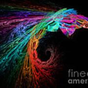 The Eagle Rainbow Art Print
