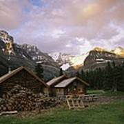 The Elizabeth Parker Hut, A Log Cabin Art Print