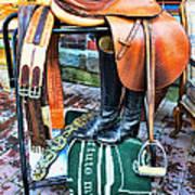 The English Saddle Art Print