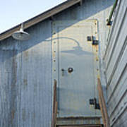 The Entry To A Metal Shed On A Sawmill Art Print