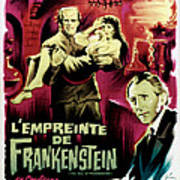 The Evil Of Frankenstein Aka Lempreinte Art Print