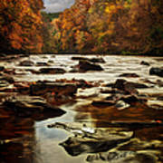 The Fall On The River Avon  Art Print