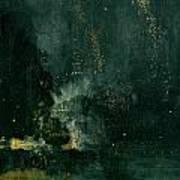 The Falling Rocket Art Print by James Abbott Whistler