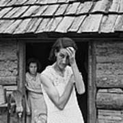 The Family Of Poor Farmer In Boone Art Print