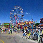 The Ferris Wheel At The Fair Art Print