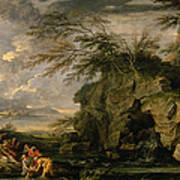 The Finding Of Moses Art Print by Salvator Rosa