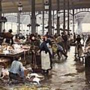 The Fish Hall At The Central Market  Art Print