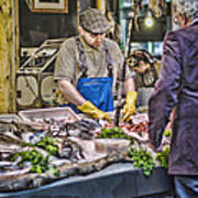 The Fish Monger Art Print