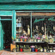 The Flower Shop Art Print