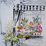 The Flower Stand Art Print