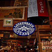 The General Store In Luckenbach Tx Art Print