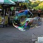 The Giant Bubble At Bethesda Terrace Art Print
