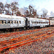 The Golden Age Of Railroads . 7d115623 Art Print by Wingsdomain Art and Photography