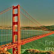 The Golden Gate Bridge Summer Art Print by Alberta Brown Buller