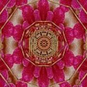 The Golden Orchid Mandala Art Print