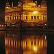 The Golden Temple Is Reflected Art Print