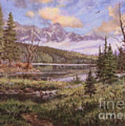 The Gore Range Art Print by W  Scott Fenton