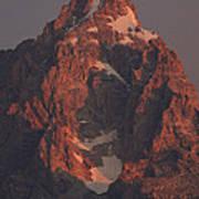 The Grand Teton At Sunrise Art Print