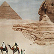 The Great Sphinx And The Second, Or Art Print