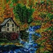 The Grist Mill in Autumn Art Print