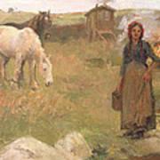 The Gypsy Camp Print by Harold Harvey