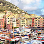 The Harbor At Camogli Art Print