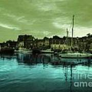 The Harbour At Padstow Art Print