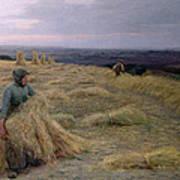 The Harvesters Svinklov Viildemosen Jutland Art Print