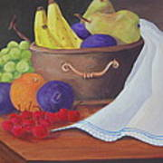 The Healthy Fruit Bowl Art Print by Janna Columbus