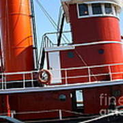 The Hercules . A 1907 Steam Tug Boat At The Hyde Street Pier In San Francisco California . 7d14143 Art Print by Wingsdomain Art and Photography