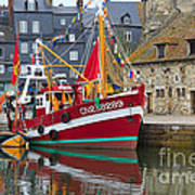 The Historic Fishing Village Of Honfleur Art Print