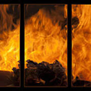 The Home Fires Are Burning Triptych Art Print