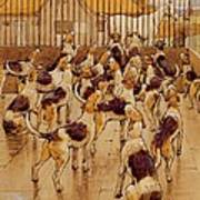 The Hounds Began Suddenly To Howl In Chorus  Art Print