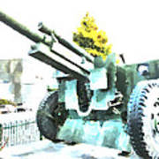 The Howitzer 105mm Field Gun Carriage Art Print