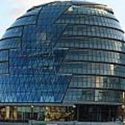The Imposing Glass Greater London Mayoral Building On The Banks Of The Thames Art Print