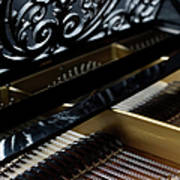 The Inside Of A Piano Art Print by Studio Blond
