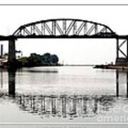 The International Peace Bridge Between The United States  And Canada Art Print
