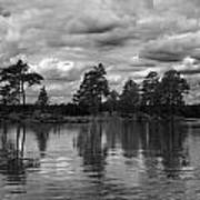 The Island In The Midlle In Bw Art Print